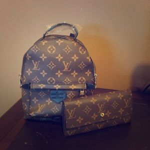 Louis Vuitton Backpack Purse and Wallet